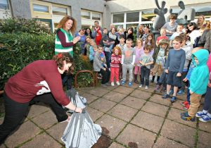setting off a volcano at Dalkeith librrary