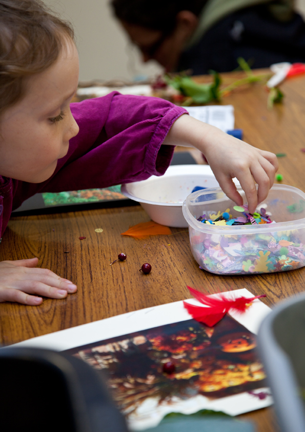 Girl taking part in craft activity