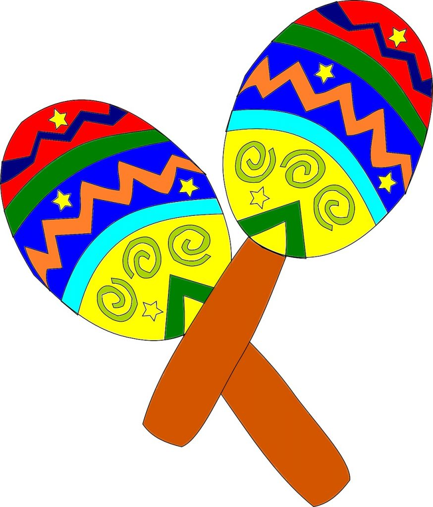 Drawing of maracas