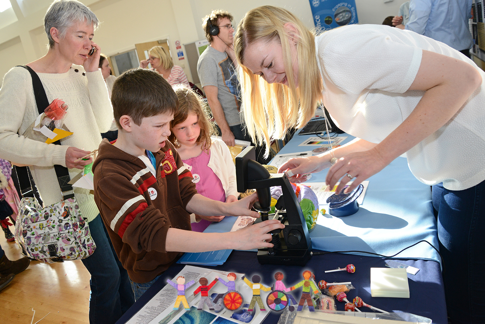 Children using microscope - Additional Support Needs