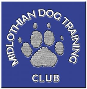 Paw Logo for Midlothian Dog training club