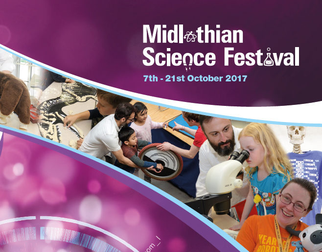 MIdlothian Science Festival Brochure cover 2017