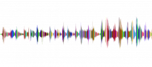 colourful sound wave